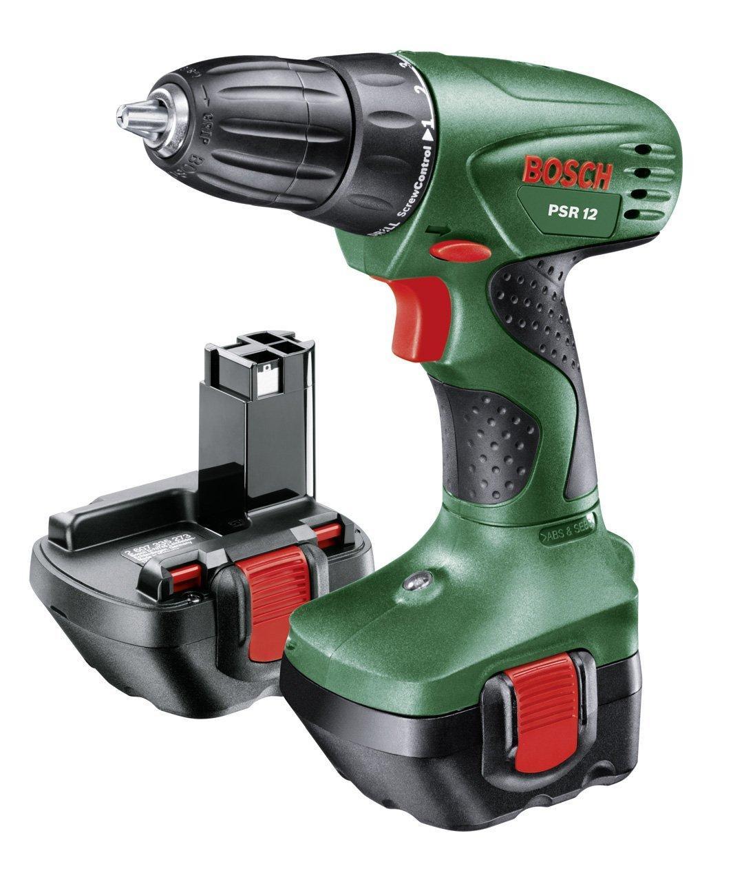 Perceuse-visseuse sans fil Bosch PSR 12 avec coffret (2 batteries et chargeur)