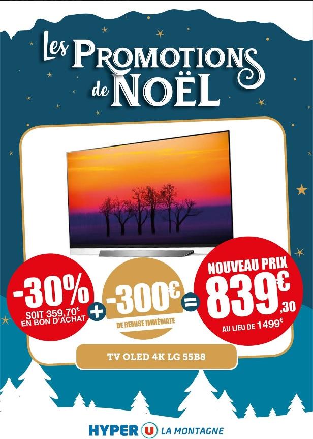 """TV 55"""" LG 55B8 - 4K UHD, OLED, Smart TV (via 359.7€ en bon d'achat) - La Montagne (44)"""