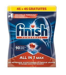 Paquet de 90 tablettes pour lave-vaisselle Finish PowerBall