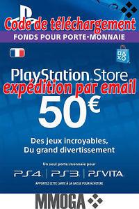 Carte de recharge Carte PlayStation Network de 50€