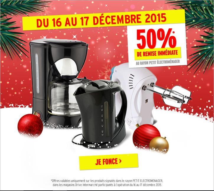 50% de réduction sur le Petit Electroménager (sur produits signalés)