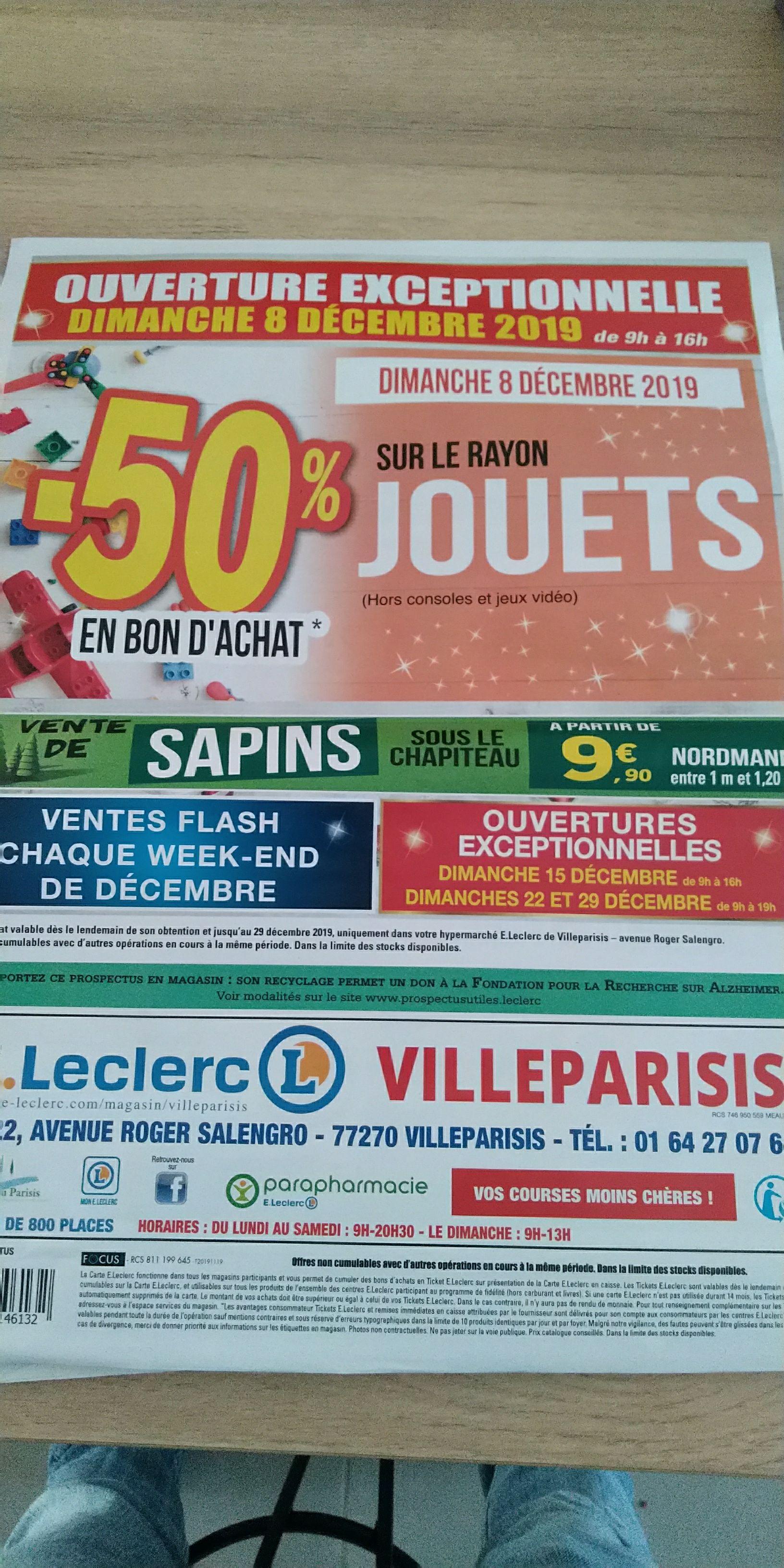 50% de réduction sur le rayon jouets crédités en bon d'achat - Villeparisis (77)