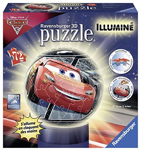 Puzzle 3D sphérique lumineux Cars Ravensburger - 11818 (vendu par Amazon)