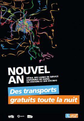 Sélections Transports gratuits pour les fêtes - Ex: Transports offerts à Paris la nuit du 31 décembre 2019 au 1er janvier 2020