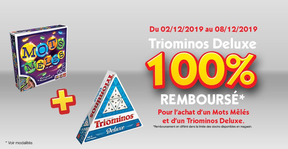 Jeux de société Triominos Deluxe + Mots mêlés (via 9.76€ fidélité + 24.9€ ODR)