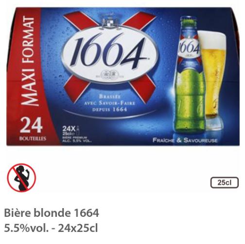 Pack de bière 1664 - 24 x 25cl - Senlis (60)