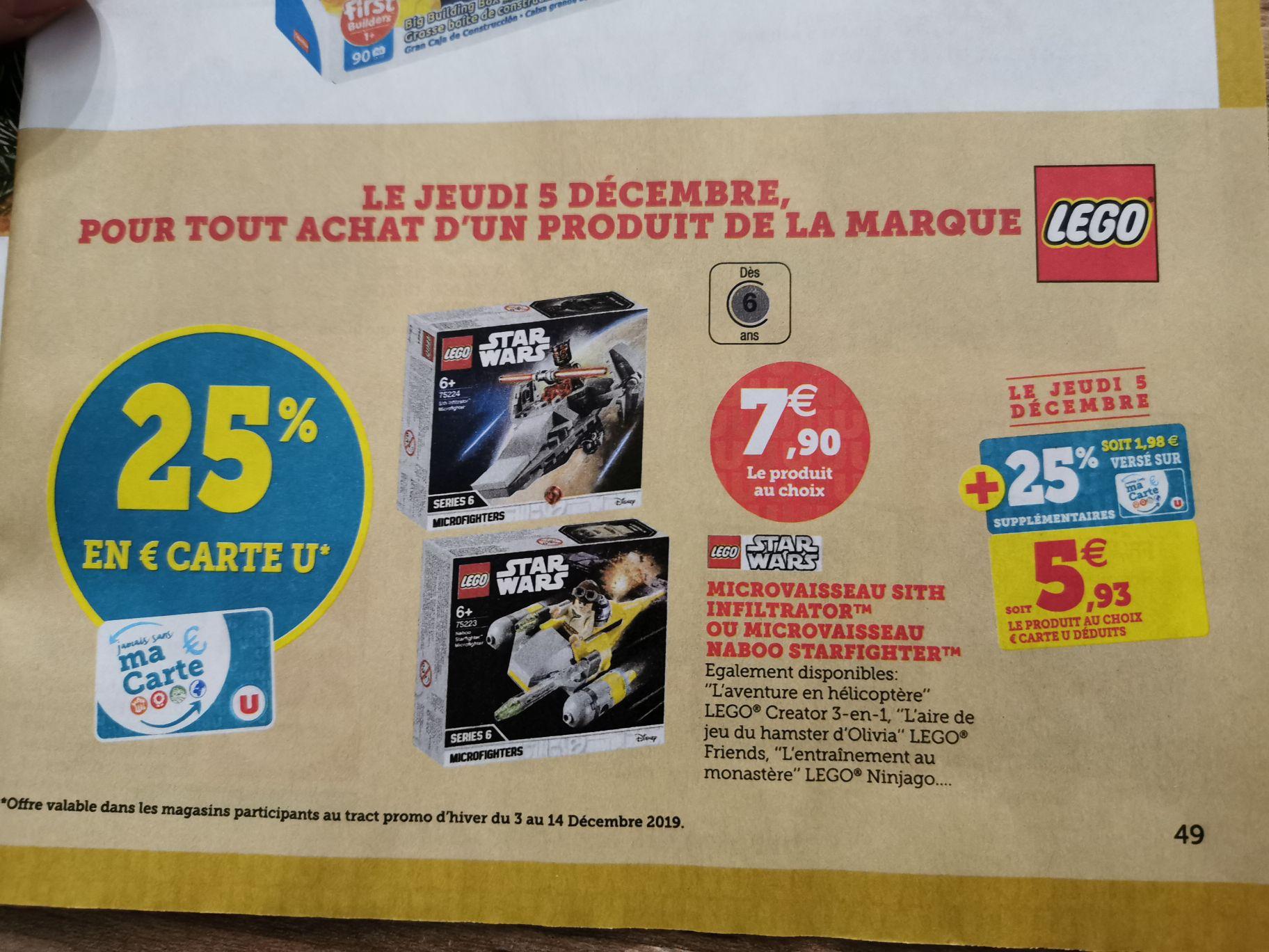 Lego Star wars microfighter et autres