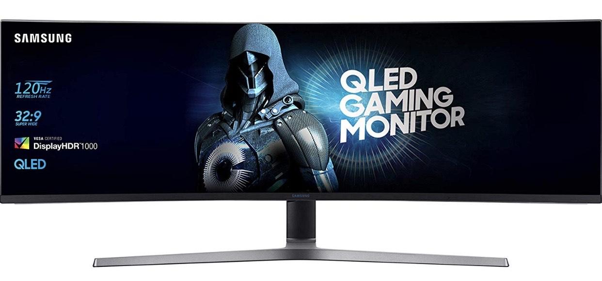 "Écran PC QLED Incurvé 48.9"" Samsung C49RG90 - 5120 x 1440, VA, 4ms, 120Hz, FreeSync (Via Coupon)"