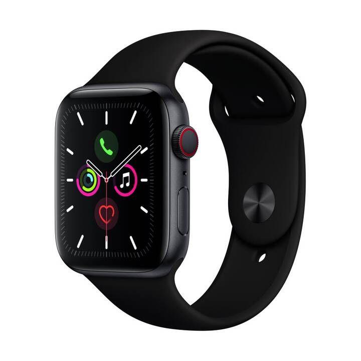 Montre connectée Apple Watch Series 5 GPS + Cellular - Gris/Noir, 44 mm, Aluminium, Silicone (Frontaliers Suisse)