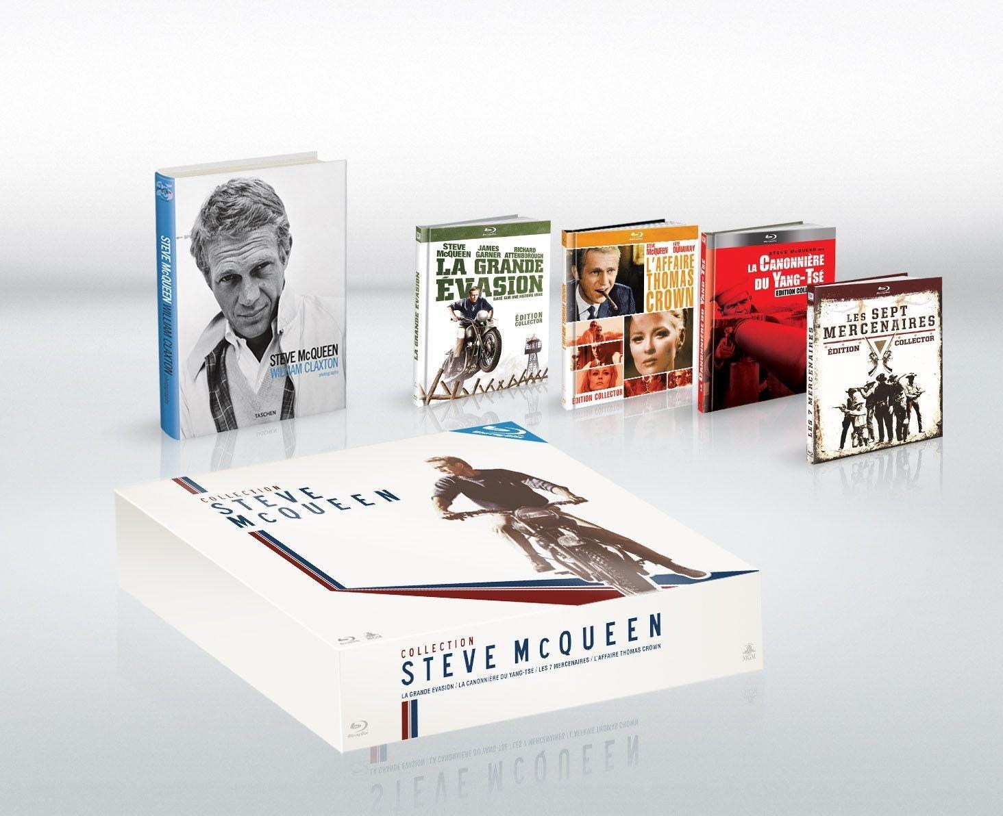 Coffret Blu-ray : Collection Steve McQueen - 4 films + superbe Livre ed. Taschen