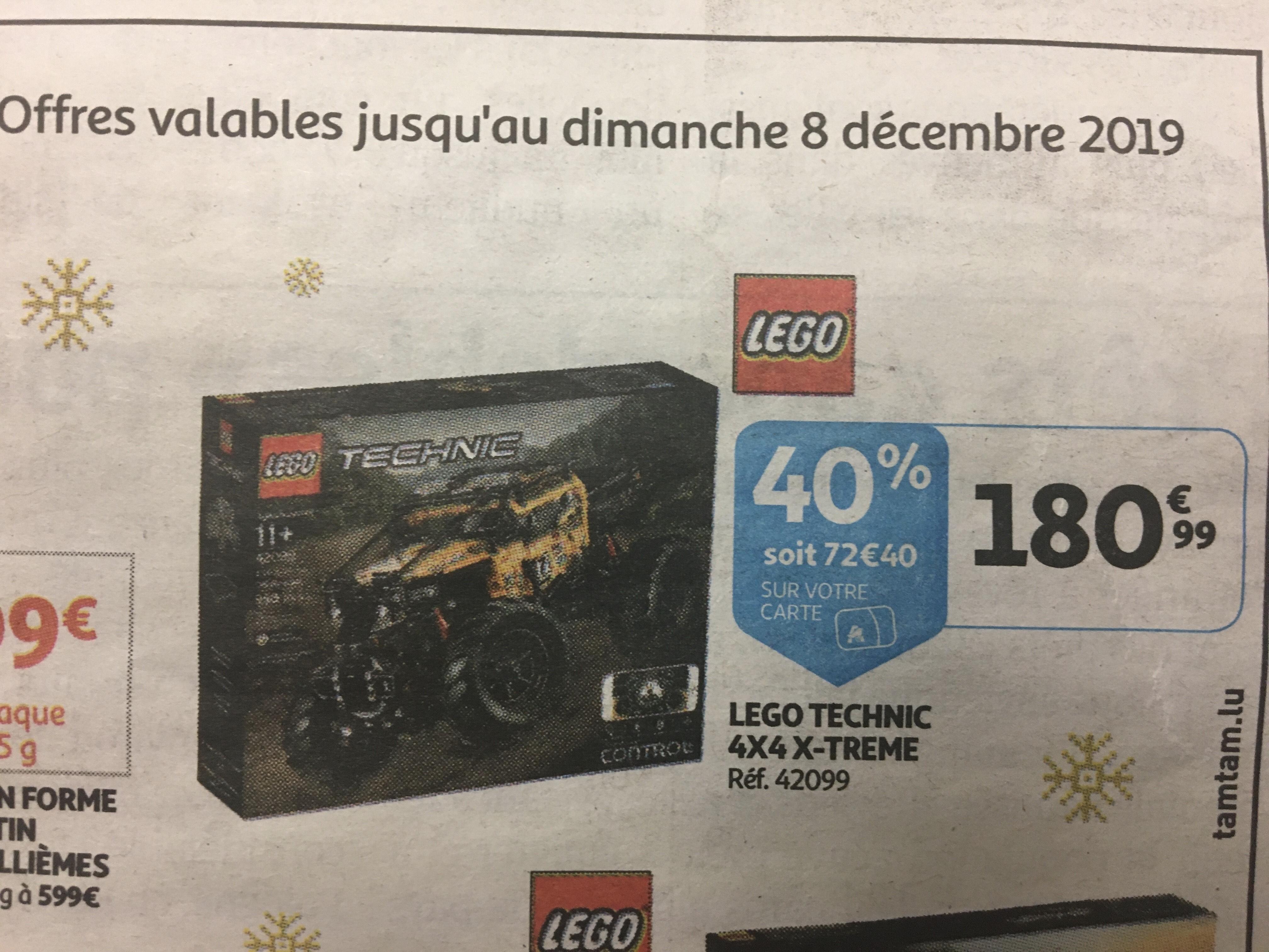 Sélection de Lego en promotion - Ex: Lego Technic - Le tout-terrain X-trême - via 72.4€ sur la carte de fidélité (frontaliers Luxembourg)
