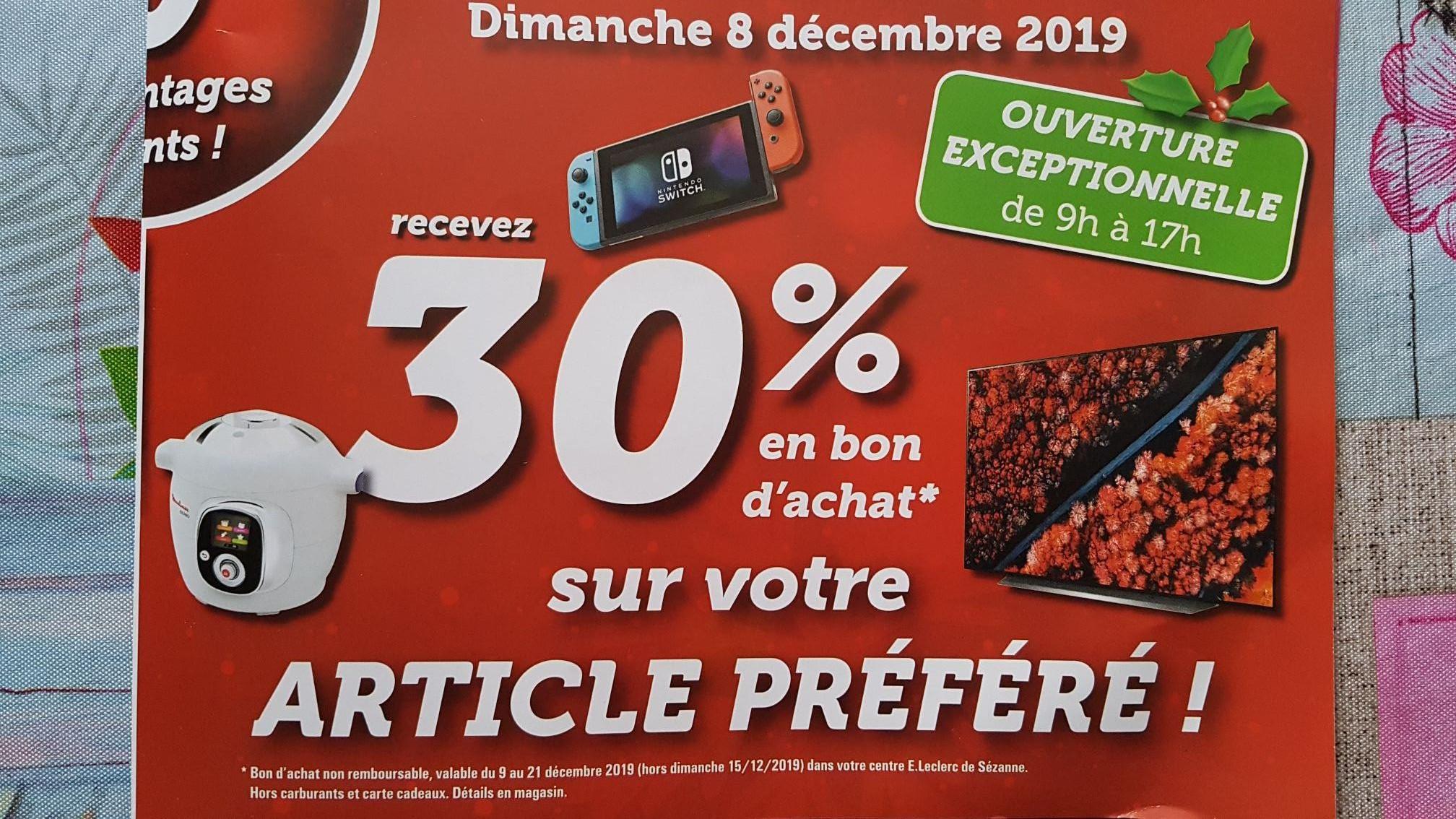 30% offerts en bon d'achat sur votre article préféré (Sézanne 51)