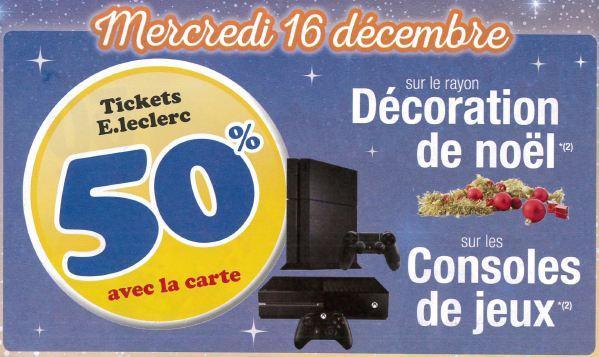 50% offerts en ticket Leclerc sur les Consoles de jeux
