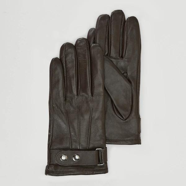 Gants en cuir Monoprix Homme - marron, taille 8