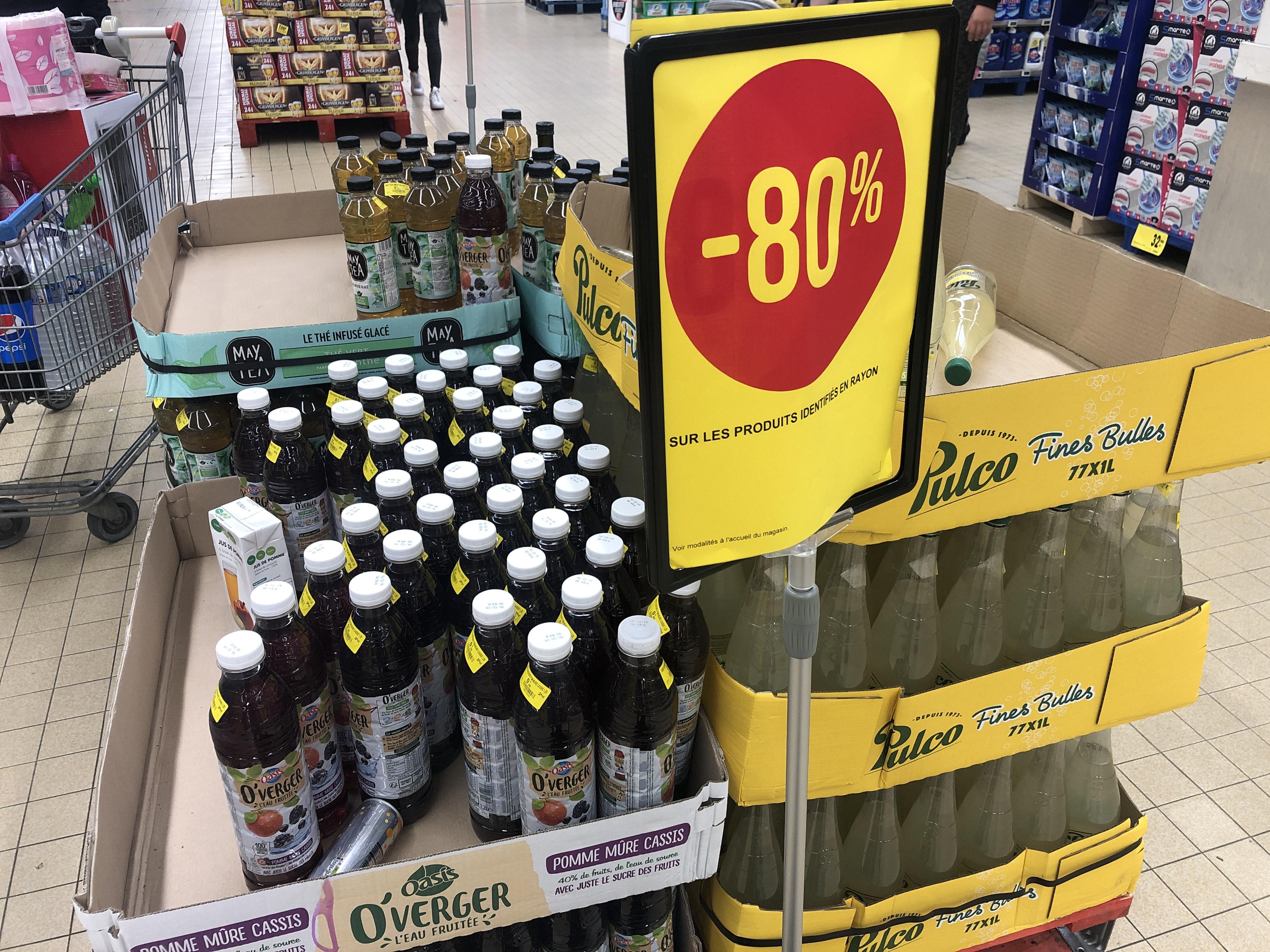 80% de réduction sur une sélection de boissons - Ex: May Tea 1L à 0.38€ - Béziers (34)