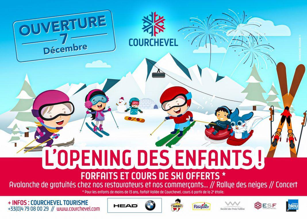 [Enfants -13 Ans] Forfait ski, location de matériel, cours collectifs et restauration gratuit (Courchevel)