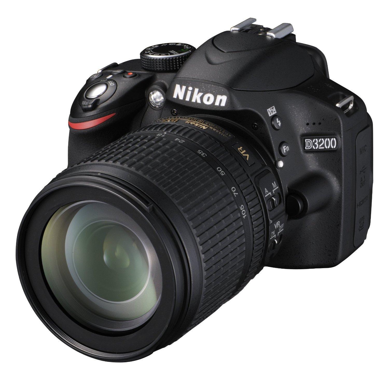 Appareil photo numérique Réflex Nikon D3200 + Objectif AF-S DX18-105 VR Noir