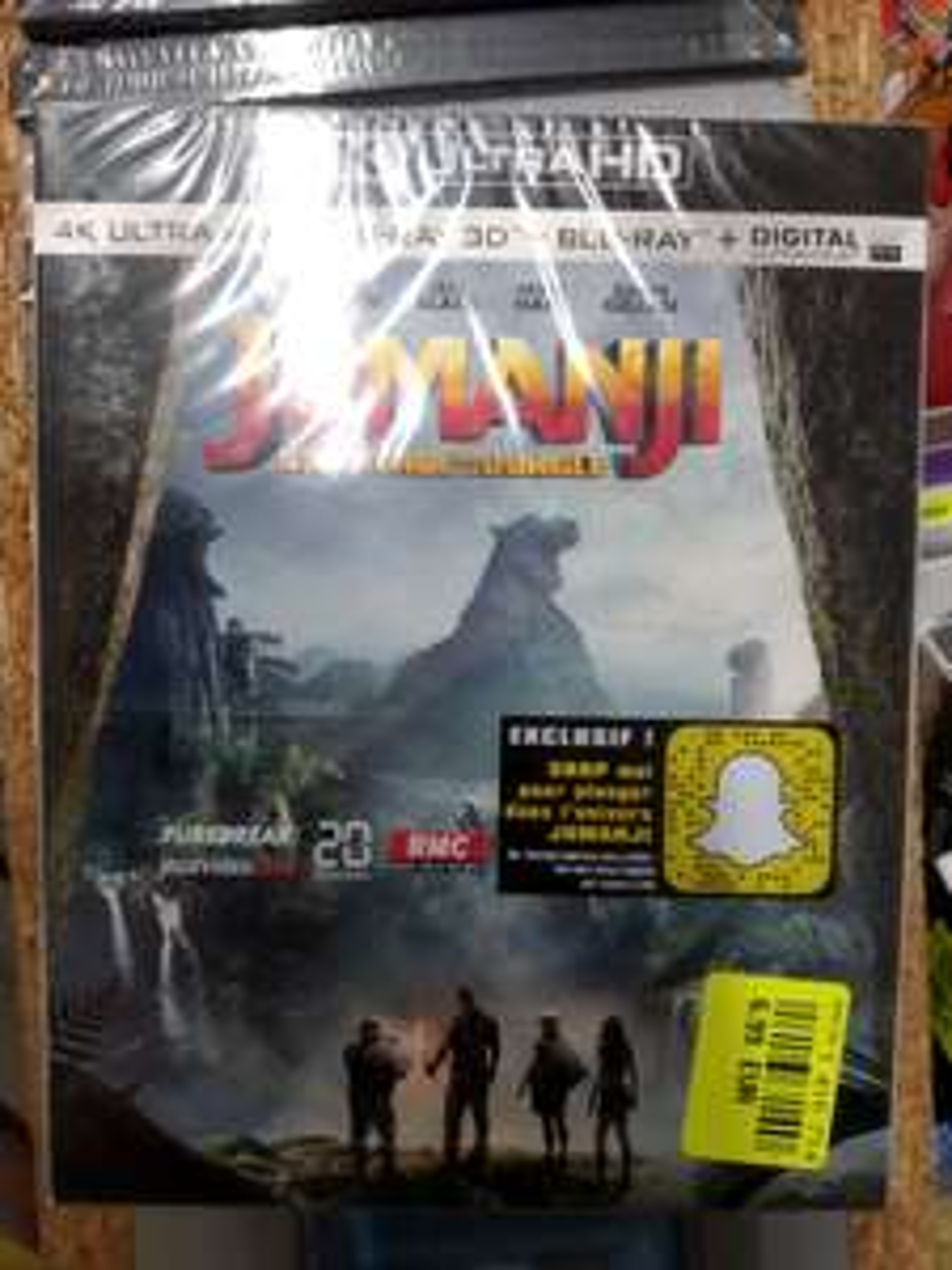 Blu-ray 4K Jumanji (La Roche-sur-Yon 85)