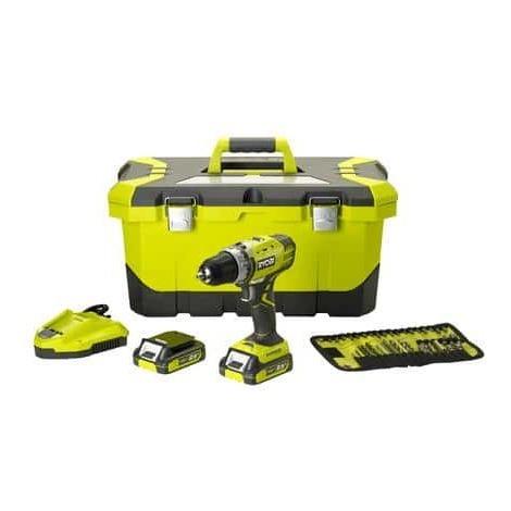 Perceuse-Visseuse Ryobi R14DDE-LL25T - 14.4V - 2 batteries Lithium-ion 2.5Ah, Chargeur Rapide, Caisse à outils