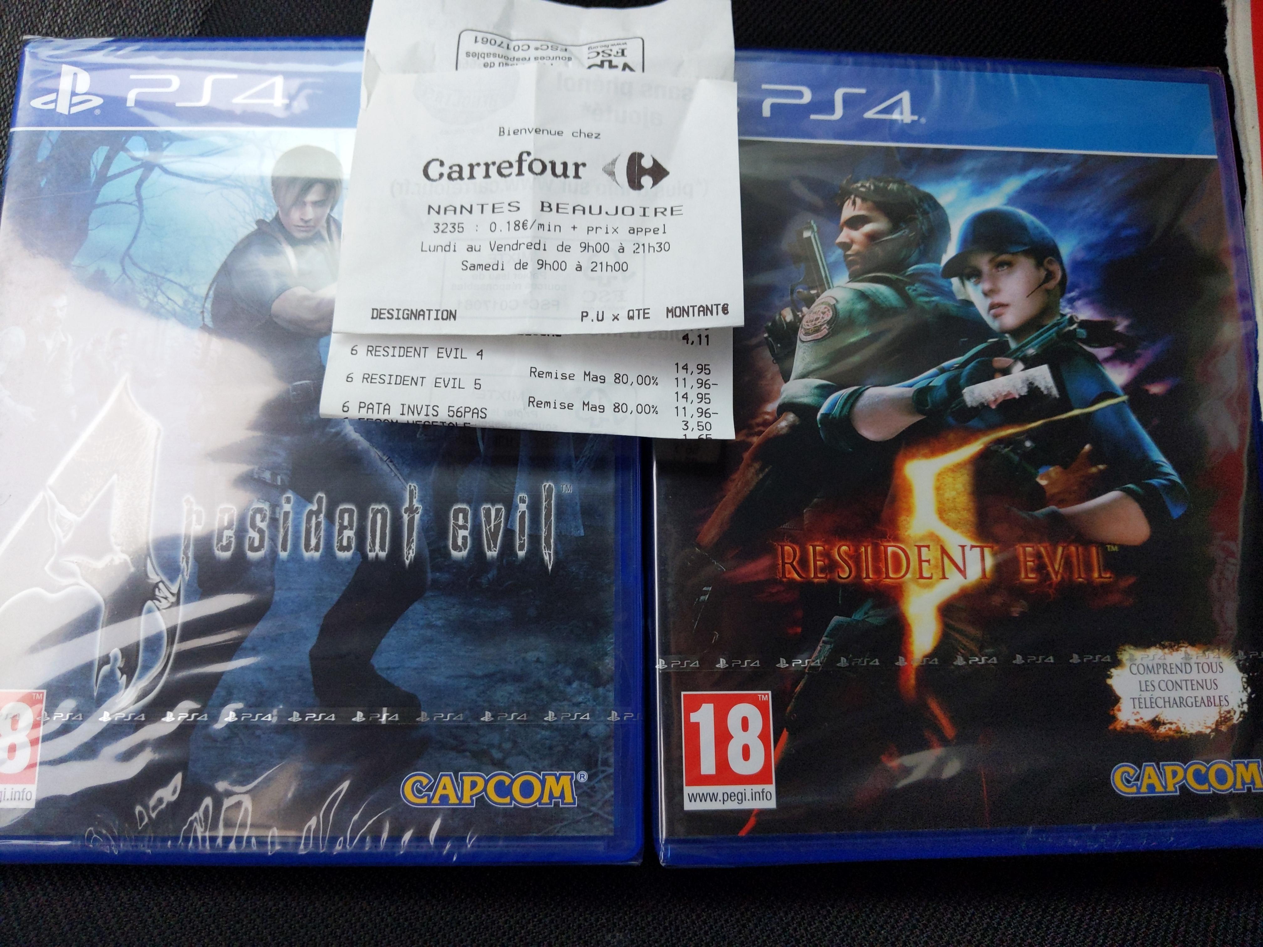 Resident Evil 4 ou 5 sur PS4 - Beaujoire (44)