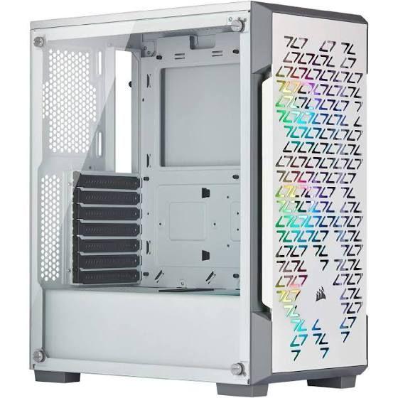 Boitier PC Corsair iCUE 220T RGB Airflow en Verre Trempé - Blanc ou Noir
