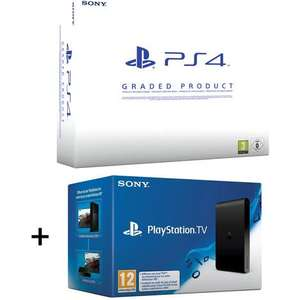 Sélection de Pack PS4 500 Go Reconditionnée - Ex : Console PS4 500 Go Reconditionnée + Playstation TV