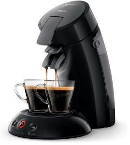 Machine à Café Philips Senseo Original HD6554/62 + Lot de 12 Paquets de 18 Dosettes de Café au choix parmi une sélection + 2 Tasses