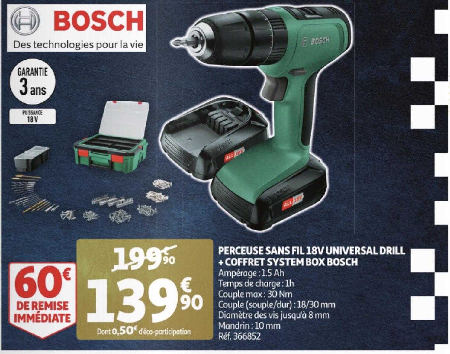 Perceuse sans fil 18V Bosch + Coffret System Box