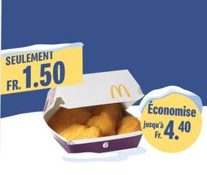 Boite de 6 Chicken McNuggets (Frontaliers Suisse)