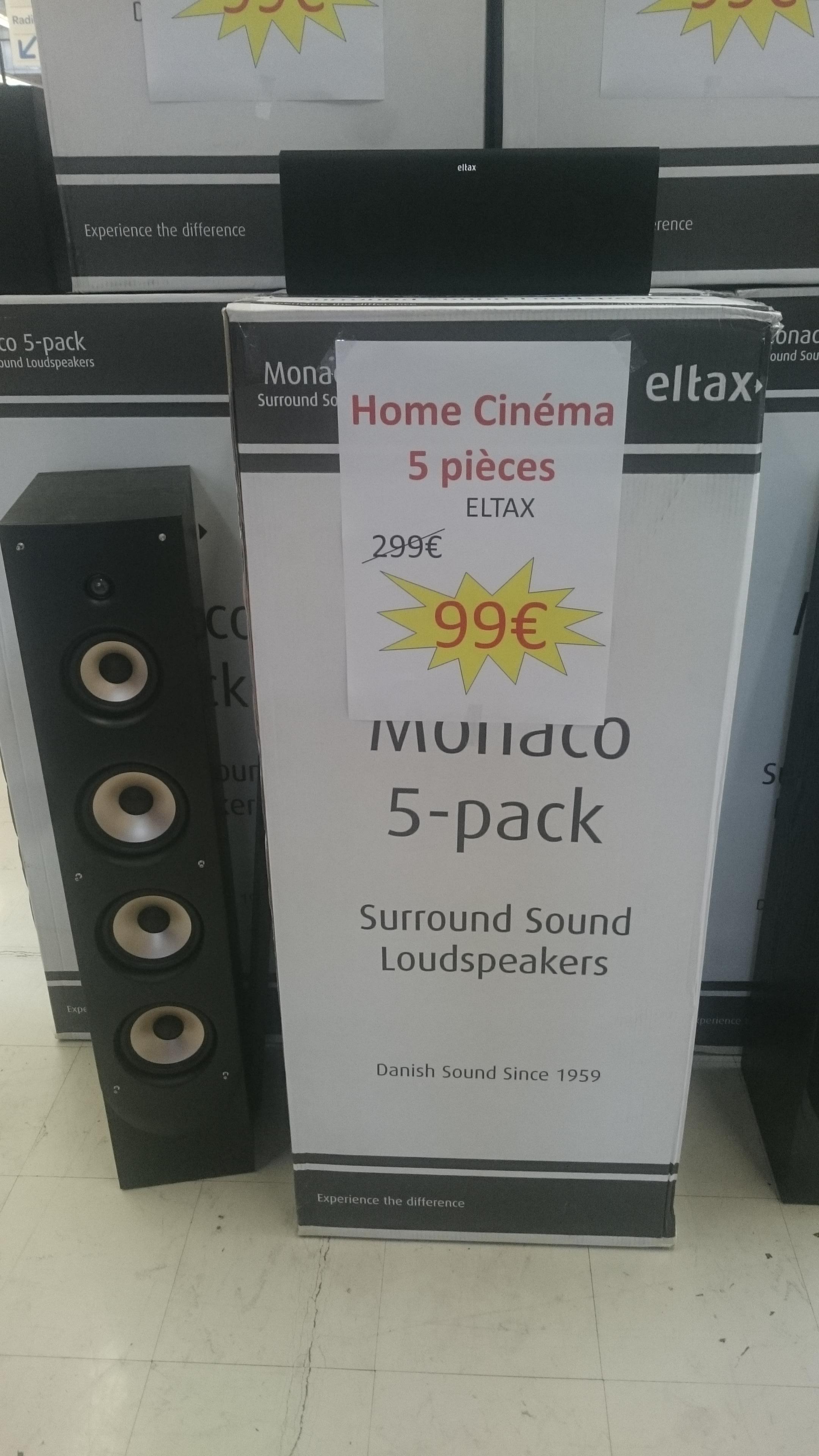 Home Cinéma Eltax Monaco 5-Pack - 3 voies, 100 Watts