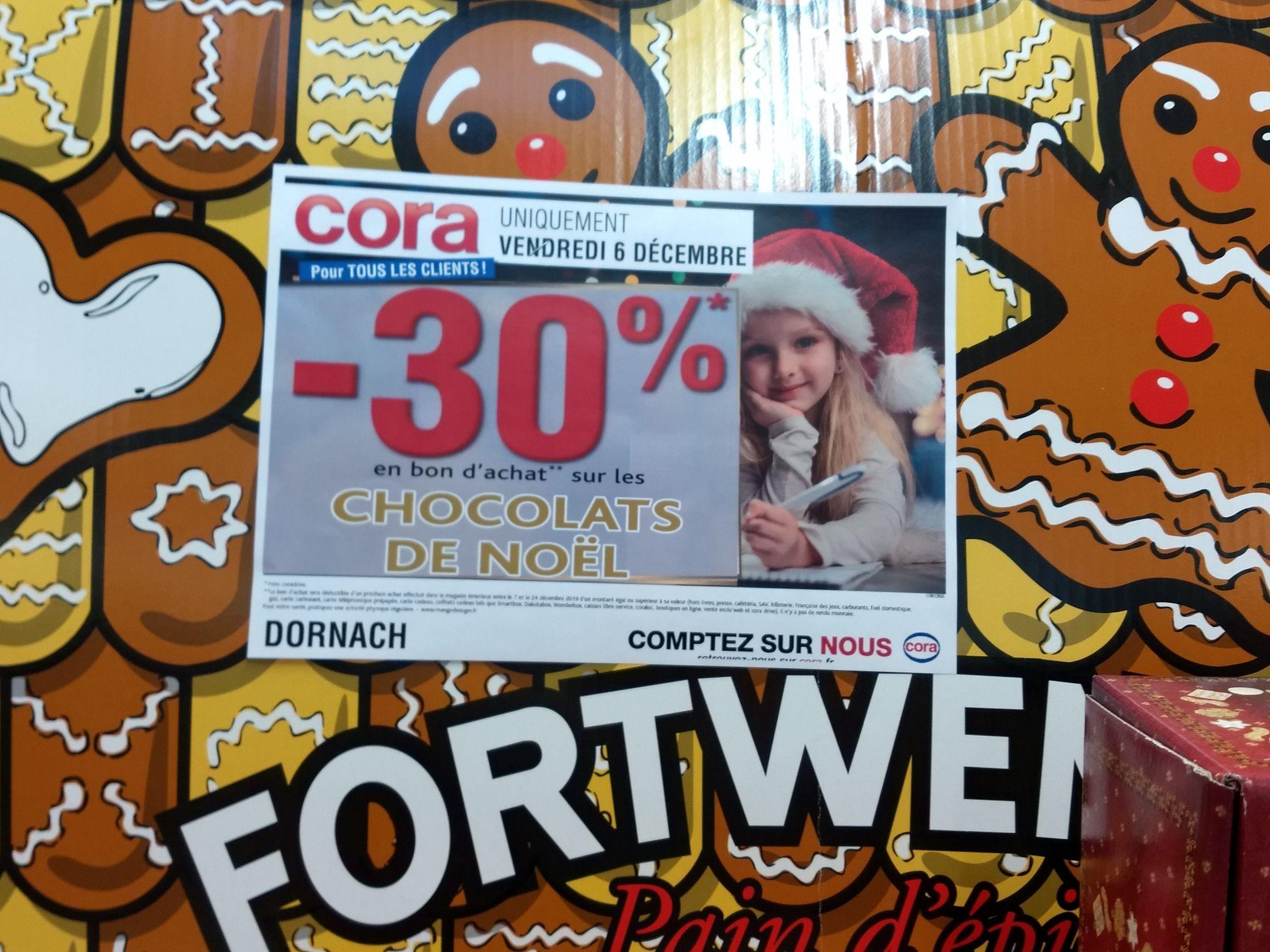 30% offerts en bons d'achat sur les chocolats de Noël (Dornach 68)
