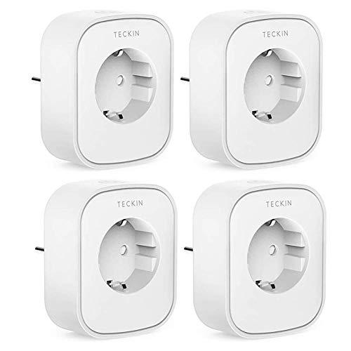 Lot de 4 prises connectées Teckin avec monitoring de consommation- Compatibles Alexa, Google Home et IFTTT (Vendeur Tiers)