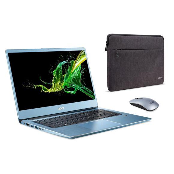 """PC Portable 14"""" Acer Swift 3 SF314-41-R5AB (Full HD, Ryzen 5 3500U, SSD 512 Go, RAM 8 Go, Vega 8, Win 10) + Housse + Souris (Via ODR de 80€)"""