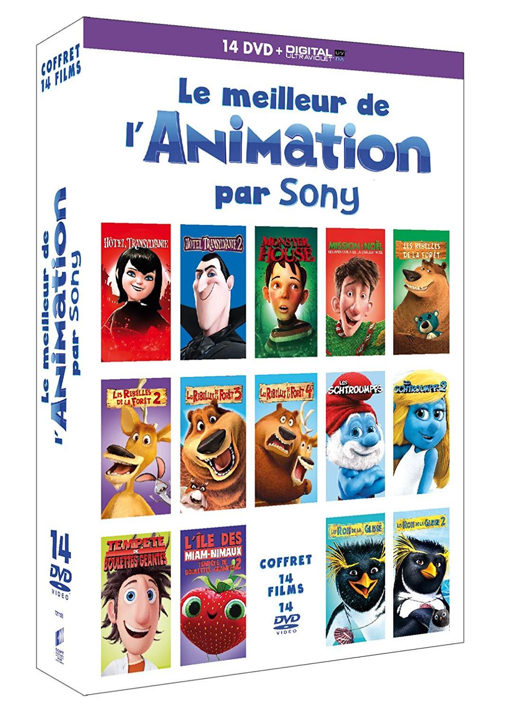 Coffret 14 DVD Le Meilleur de l'Animation par Sony. DVD + Copie digitale