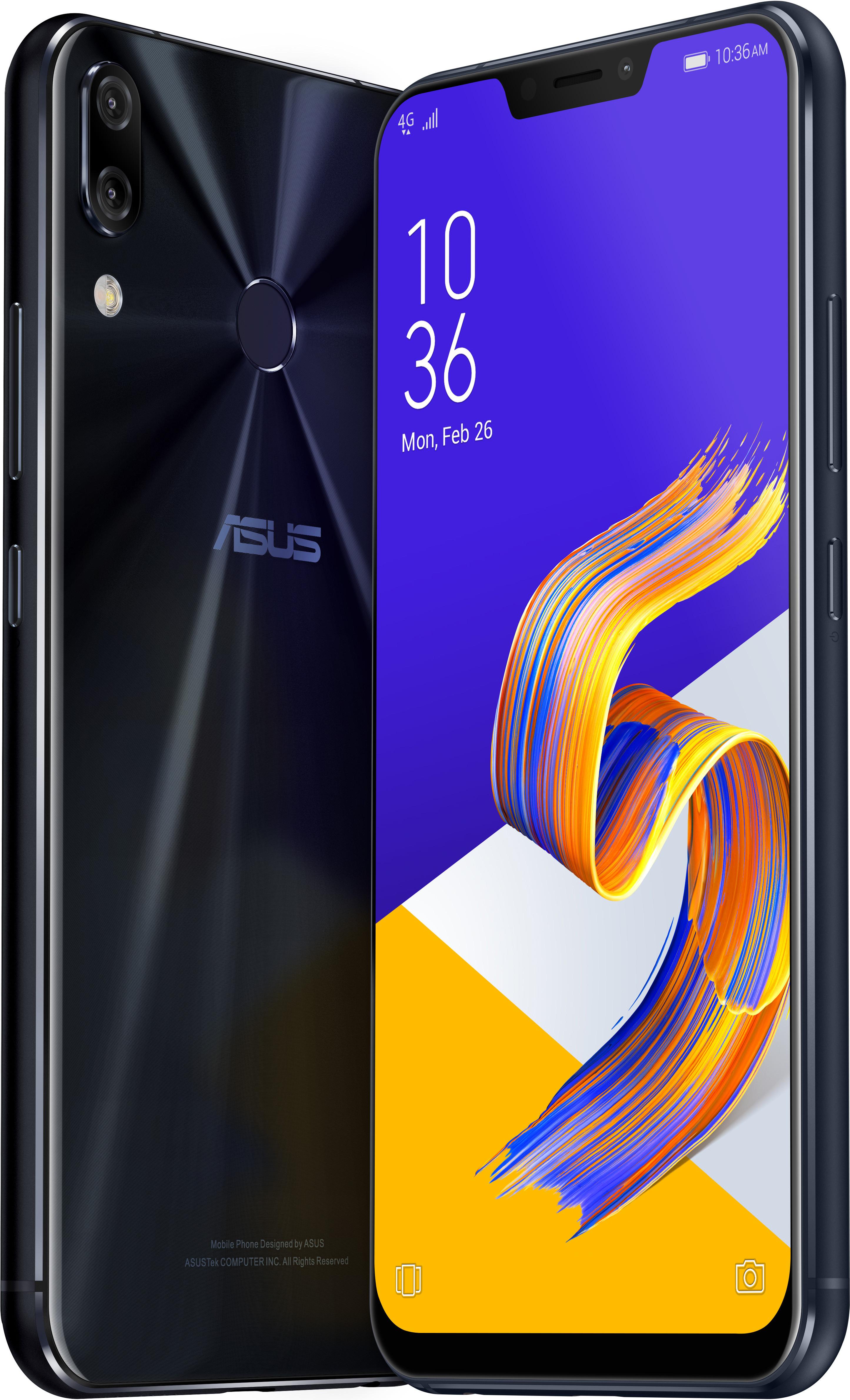 """Smartphone 6.18"""" Asus Zenfone 5z - full HD+, SnapDragon 845, 6 Go de RAM, 64 Go, noir"""