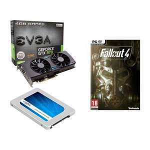 Pack Carte Graphique EVGA GeForce GTX 970 SSC GAMING ACX 2.0+ + SSD Crucial BX200 480 Go + Fallout 4 + Rainbow Six ou Assassin's Creed