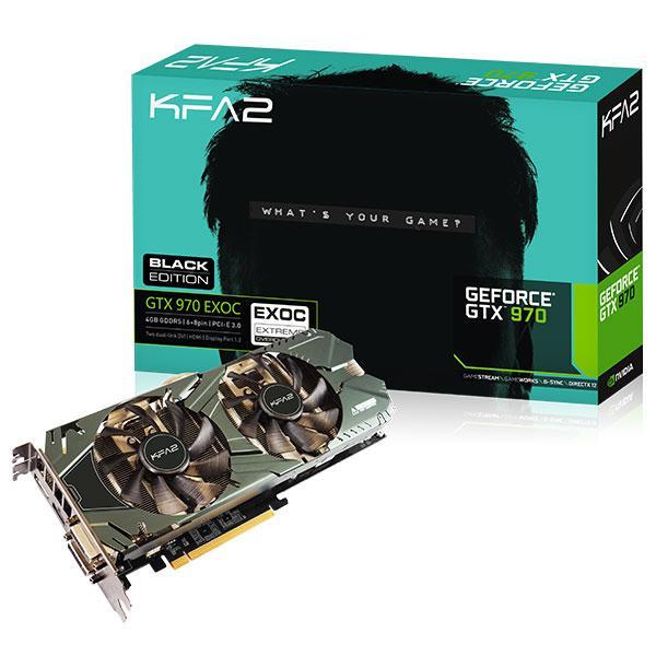 Carte Graphique KFA2 GeForce GTX 970 EXOC Black Edition