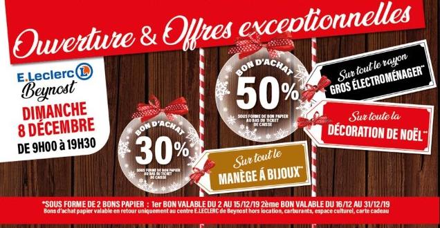 Sélection d'offres promotionnelles - Ex: 50% offerts en bon d'achat sur le rayon Gros Electroménager - Beynost (01)