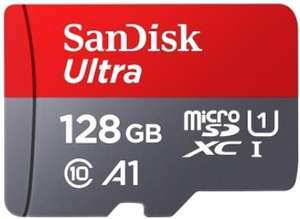 Carte mémoire SDXC Sandisk Ultra Classe 10, A1 - 128 Go (via l'application mobile)