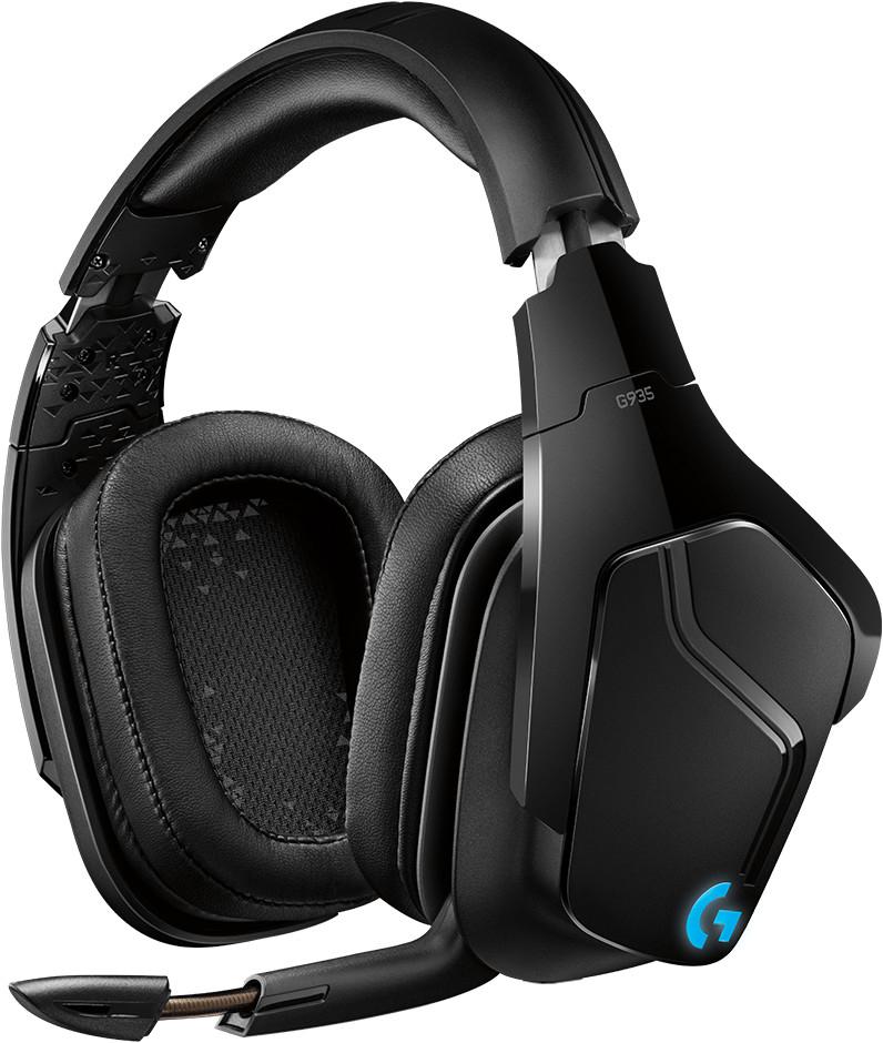 Casque audio sans-fil Logitech G935 - son Surround 7.1 / DTS Headphone: X 2.0, néodyme Pro-G 50 mm, éclairage LightSync RVB, avec micro