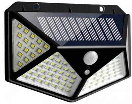 Projecteur solaire extérieur, 100 LED, 1000 Lumens, capteur 270°, IP65