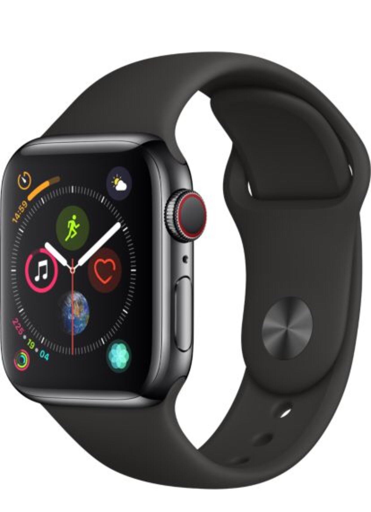 Montre connectée Apple Watch Series 4 (GPS + Cellular) - 40 mm avec Bracelet Gris Noir Boîtier Aluminium Gris