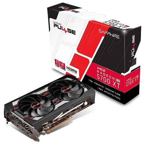Carte graphique Sapphire PULSE Radeon RX 5700 XT - 8Go + 3 mois Xbox Game Pass + 1 Jeu au choix parmi une sélection