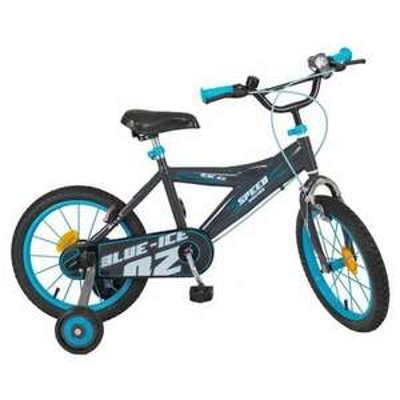 """Vélo 16"""" Eco Ice Blue - Enfant mixte - Noir et bleu"""
