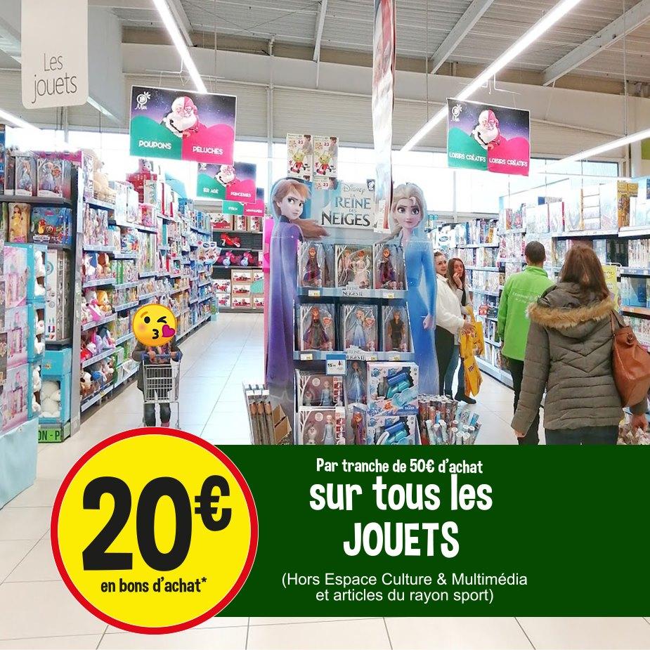 20€ en bons d'achat par tranche de 50€ d'achat sur le rayon Jouets - Mios (33)