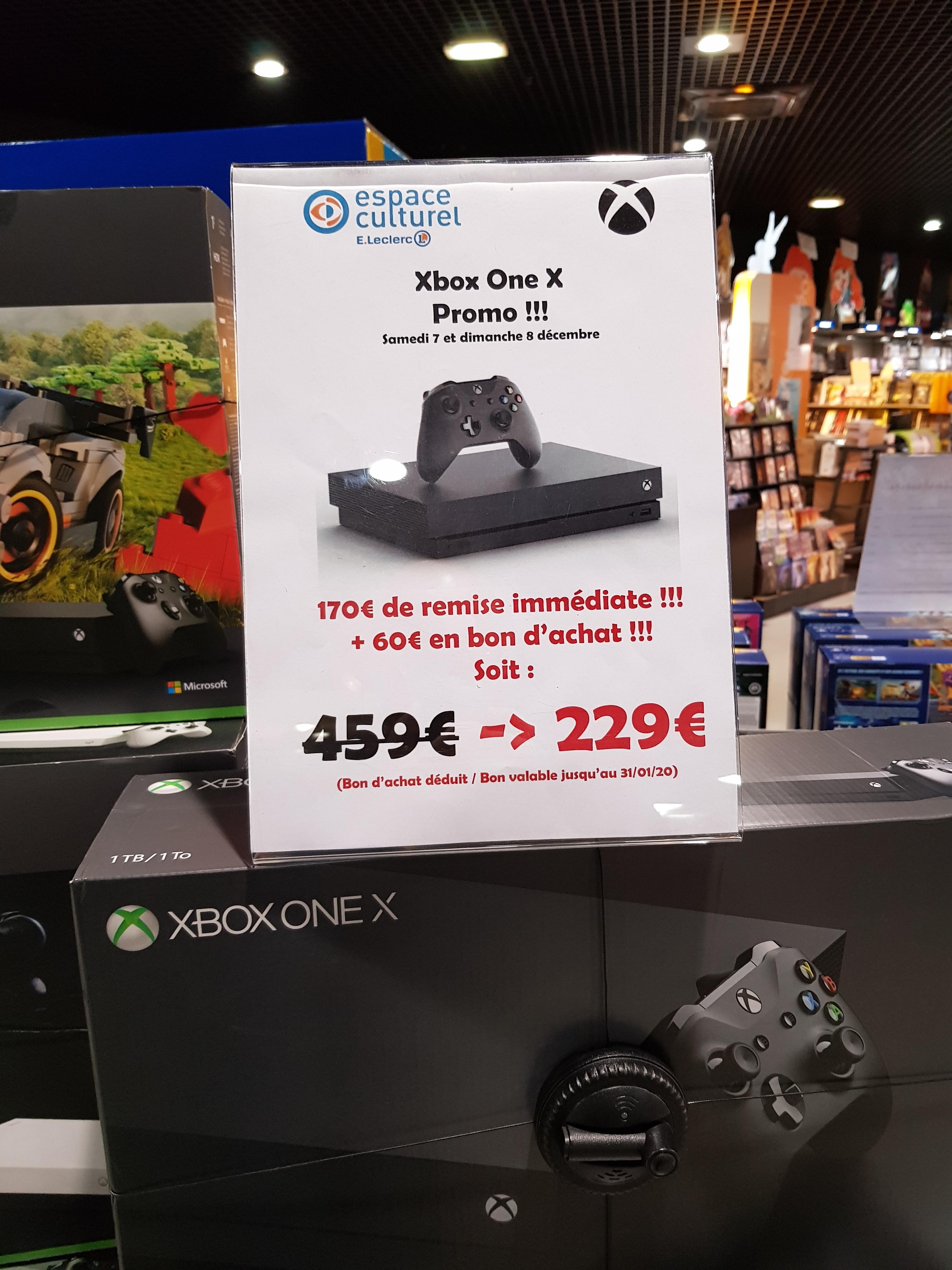 Console Microsoft Xbox One X (1 To - Via 60€ en bon d'achat) - Andrezieux-Bouthéon (42)