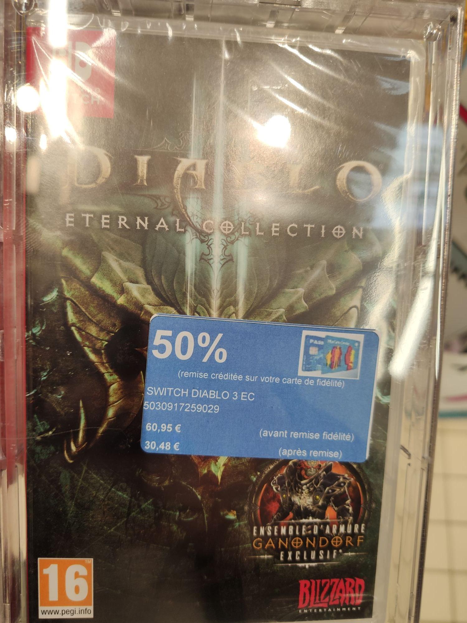 Jeu Diablo 3 Eternal Collection sur Nintendo Switch (Via 30,48€ sur le compte de fidélité) - Quimper (29)