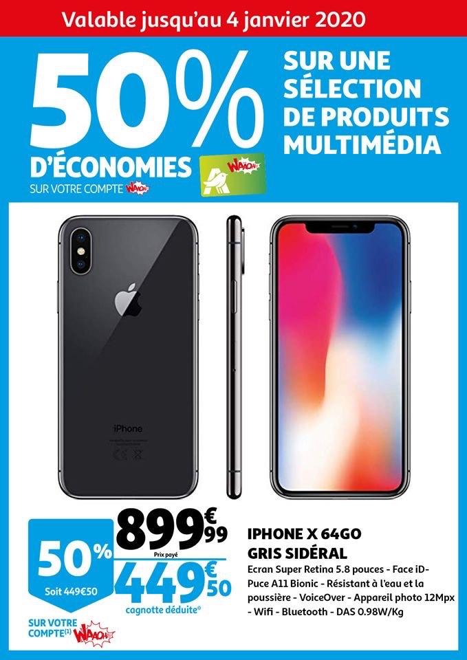 50% remboursés sur la carte fidélité sur une sélection de produits multimédias - Auchan Avrillé (49)