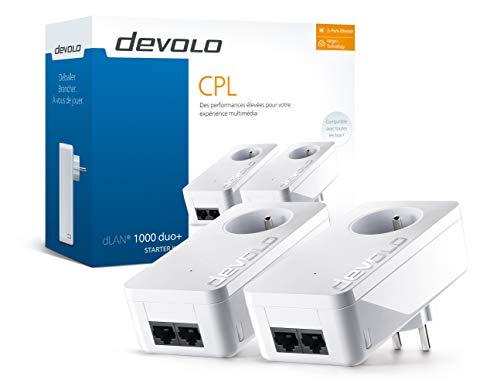 Lot de 2 CPL Devolo 8112 dLAN 1000 Duo+ - 1000 Mbit/s