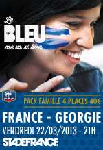 50% de réduction sur le match de football France / Georgie au stade de france